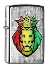 "ZIPPO ""RASTA LION HEAD"" LINEN WEAVE COLOR LIGHTER / 60000512 ** NEW IN BOX **"