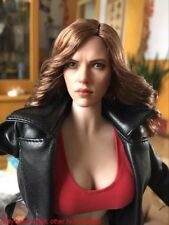 "1:6 Scarlett Johansson Black Widow Head Model For 12"" HT Phicen Female Body Toy"