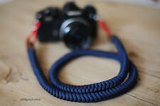 COOL blue16mm Hand knit Chinese knot handmade Camera neck strap SLR/DSLR