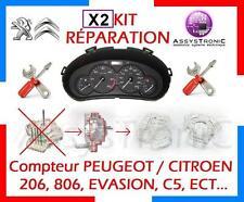 KIT pour RÉPARATION de Vos 2 MOTEUR DE COMPTEUR PEUGEOT 206, 806, CITROEN C5