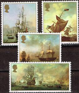 Jersey Island Meritime Battles History Ships Carawelas set 1980 MNH