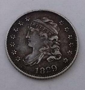 USA 1829 Half Dime Capped Bust Silver Coin Very Good Condition