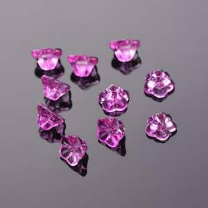 10pcs 8x6mm Flower Crystal Glass Loose Pendants Beads For Jewellery Making DIY