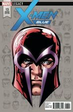 X-MEN BLUE ISSUE 13 - MIKE McKONE 1:10 MAGNETO HEADSHOT VARIANT - MARVEL LEGACY