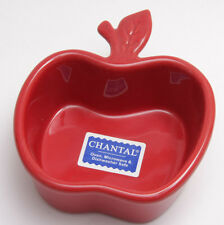 "Chantal Apple Dish 1 Cup Red 4 1/2"" 93-AP12 Baking Crock - NEW Old Stock - E36"
