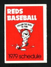 Cincinnati Reds--1979 Pocket Schedule--Marathon