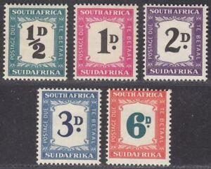 South Africa 1948-49 KGVI Postage Due Set Mint SG D34-38 cat £80