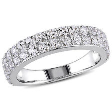 Amour Sterling Silver Created White Stackable Ring