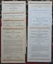SIGNED Classical Music Opera Programs VRONSKY BABIN SPIVAKOVSKY PINZA MUNSEL etc