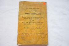 1952 Great Northern Railway Irish Ireland  Train Signalling Rule Book