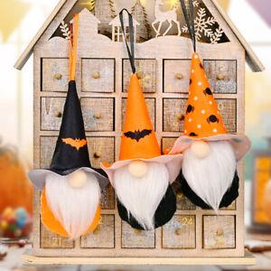 Halloween Decor Handmade Pumpkin Bat Gnome Gonks Doll Tomte Elf Hanging Ornament