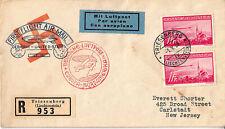 LIECHTENSTEIN C15-C16 (2 Each) On Hindenburg First Flight Covers, SCARCE (80319)