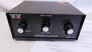 Ten-Tec TenTec 291 200 Watt Compact HF Antenna Tuner with Manual TESTED