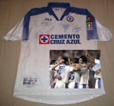 RARE 2001 Cruz Azul Libertador Jersey signed autographed Conejo Cardozo Palencia