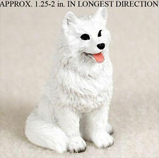 American Eskimo Mini Resin Hand Painted Dog Figurine Statue