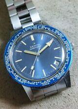 Zenith A3634 Vintage Diver World Timer band Gay Freres no polished