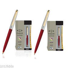 2 x Parker Galaxy (Like Jotter) GT Ball Pen Red Body Blue Ink  USPS FAST SHIP