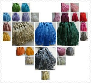 20-100 Large Silky Tassels, 29 Colours. 8cms, Jewellery/Cushion/Craft/Frills