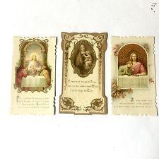 Lot 3 Image Pieuses Christ Et La Vierge Marie Bonamy Poitiers