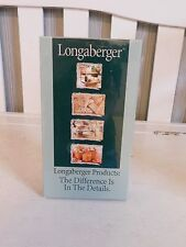 Longaberger Products The Difference Is the difference Vcr Tape Rare Collectable