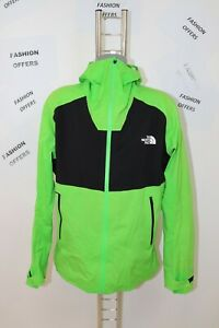 The North Face Mens DyVent Softshell Hooded PitZip Green Outdoor Jacket sz Large