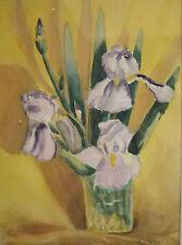 Viola Mendoza, LISTED, mid Century California vintage painting, floral colorist