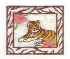 Flower Tiger Jungle Safari Embroidery Applique Patch