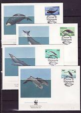 Faroe Islands 1990 - FDC - Vissen/Fish/Fische (WWF / WNF)