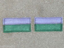 WW1 2nd AIF Battalion color patchs=one pair