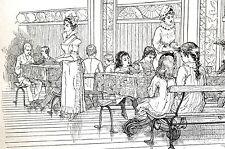 Jessie Shepherd Victorian SCHOOL LUNCH PROGRAM for Children 1882 Print Matted