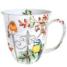 Porzellan Becher Tasse Mug Tee/ Kaffee  Birds & Holl ca.0.4L Ideal Als Geschenk