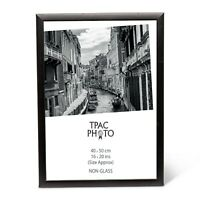 "40x50 cm 16x20"" Safety Plexi Glass In Black Wood Certificate Poster Photo Frame"