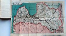 1925 Latvia Scout Calendar Pocket Book with Color Map and Flags