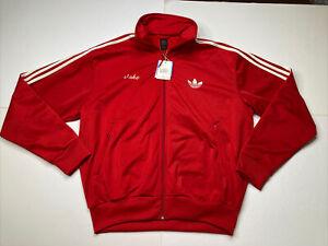 Adidas Original Firebird Track Jacket Red Size XL Full Zip NWT