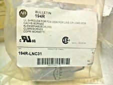 QTY 3 - ALLEN BRADLEY 194R-LNC31 Disconnect Terminal Shield new in bag