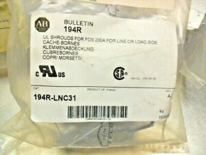 QTY 3 - ALLEN BRADLEY 194R-LNC31 Disconnect Terminal Shield new in bag