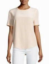 Equipment Femme Riley Silk Tee Top Blouse Size L Short Sleeve Nude Blush