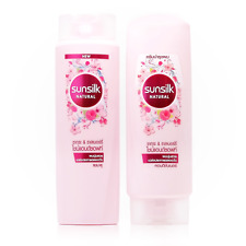 120ml. Set of Sunsilk Natural Shampoo & Conditioner Soft Shine Sakura & Rasberry