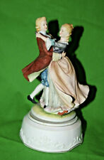 Vintage Norleans Music Box Dancing Figurines Classic Gallery Collection C-7330