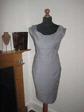 FULL CIRCLE WIGGLE DRESS 10 NEW war bride sexy secretary 1950s office chic grey