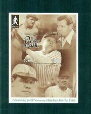 Guyana 1995 Babe Ruth Baseball Star Mini Sheet MNH Sc 2916, SG MS4266
