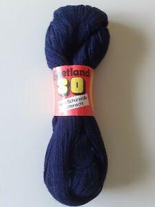 1x100g Schurwolle dunkelblau Shetland 80 DDR-Ware alwo