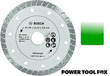 new BOSCH 125mm DIAMOND BLADE Universal Cut 2607019481 3165140415996