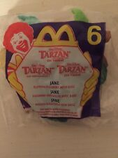 Disney Jane Tarzan McDonalds2000   Happy Meal flipping figurine Toy #1 & #6 NIP