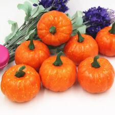 16Pcs Artificial Fake Cute Mini Pumpkin Harvest Home Halloween Party Decor Toys