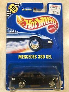Hot Wheels Blue Card Mercedes 380 SL #92 Mint On Card