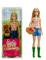 Barbie Sweet Orchard Farm Doll Blonde with Basket & Apples. New! 2018 Mattel
