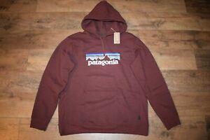 Patagonia Men's P-6 Logo Uprisal Hoody 39622 Size Large (Dark Ruby) NWT