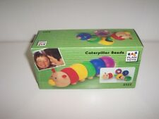 Plan Toys Wooden Caterpillar Beads 5322 Rainbow Wood Shape Sorting Stringing