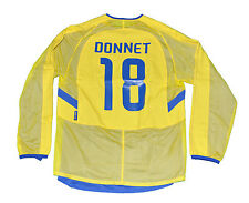 Boca Junior Jersey Donnet Player Issue shirt Nike L yellow 18 signed 2003 copa